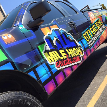 F150 Service vehicle coporate vinyl wrap for arcade company
