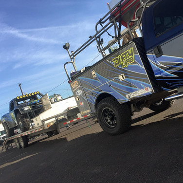 baja offroad truck and tow truck matching wraps in Commerce city