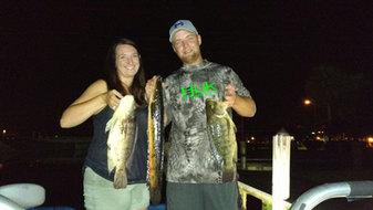 Honeymoon bowfishing before the cruise