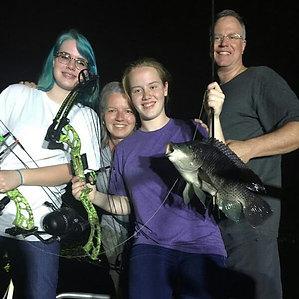 Bowfishing is a family sport! Even if yo