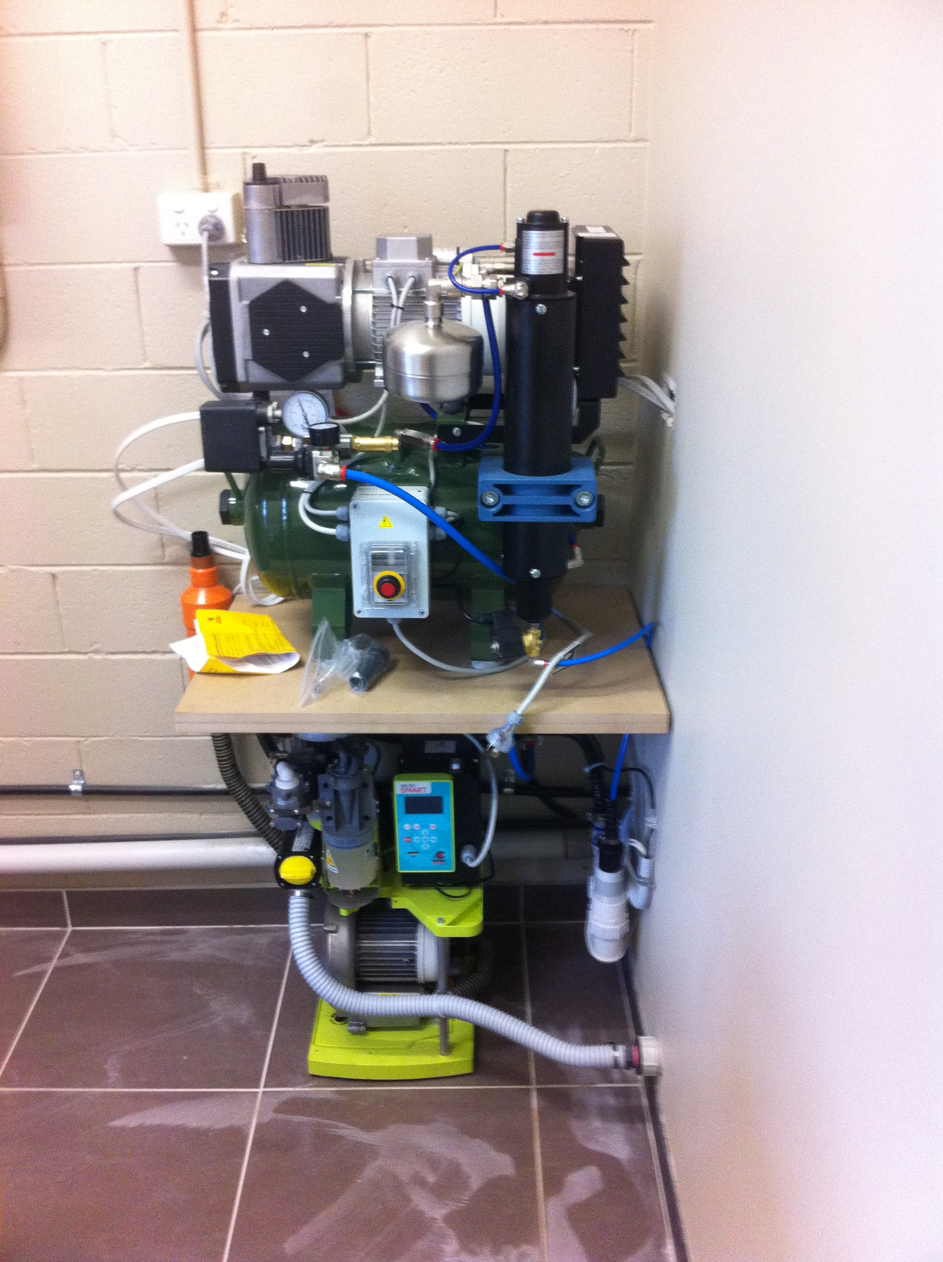 suction unit - plant room