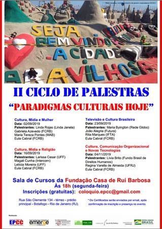 """""""Cultura, Mídia e Mulher"""" é tema do II Ciclo de Palestras """"Paradigmas Culturais Hoje"""""""