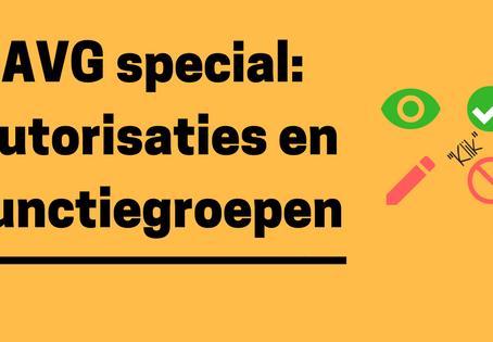 AVG special: autorisaties en functiegroepen
