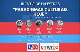 """III Ciclo de Palestras """"Paradigmas Culturais Hoje"""""""