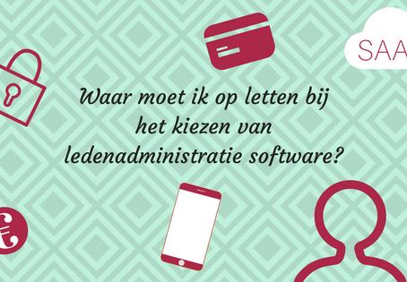 Waar moet ledenadministratie software aan voldoen?