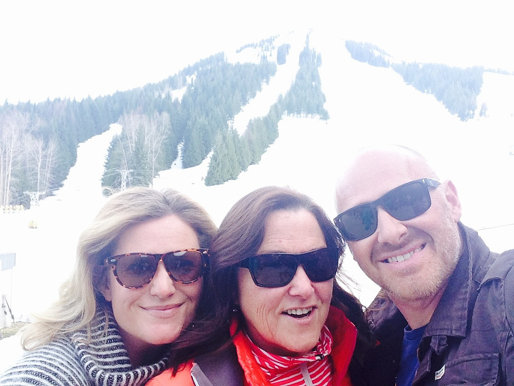 Janet, Roger and I on the last day of the ski season