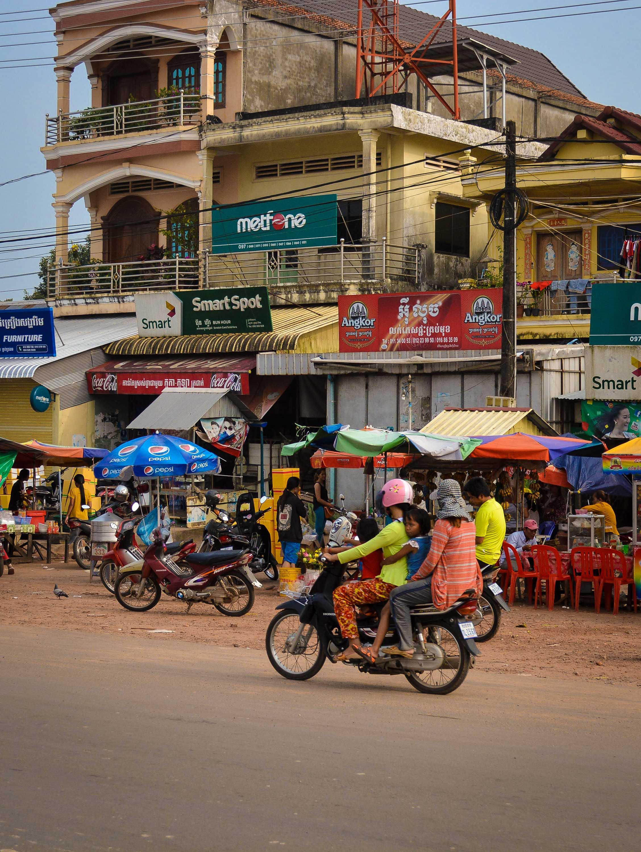 Cambodia - Street Scooter Scene
