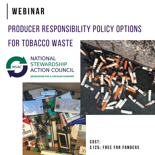 Producer Responsibility for Tobacco Waste - Webinar Recording