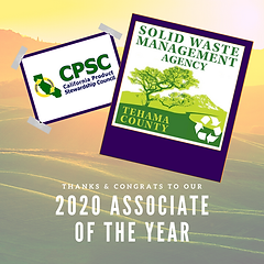 Tehama SWMA - 2020 Associate of the Year