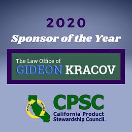 Gideon Kracov Law - 2020 Sponsor of the