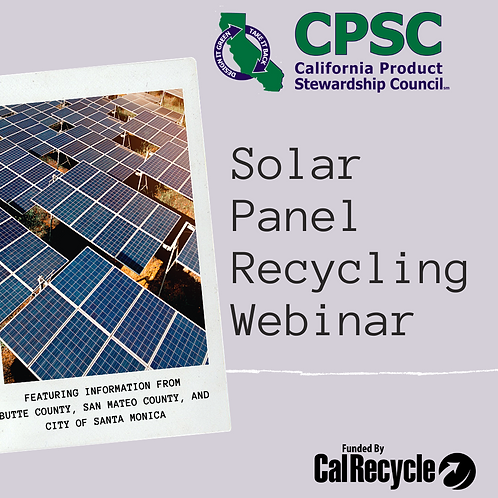 Solar Panel Recycling in CA - February 6, 2020