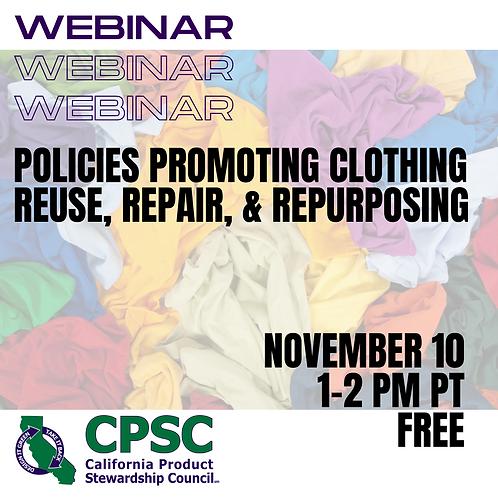 Promoting Clothing Reuse, Repair, & Repurposing