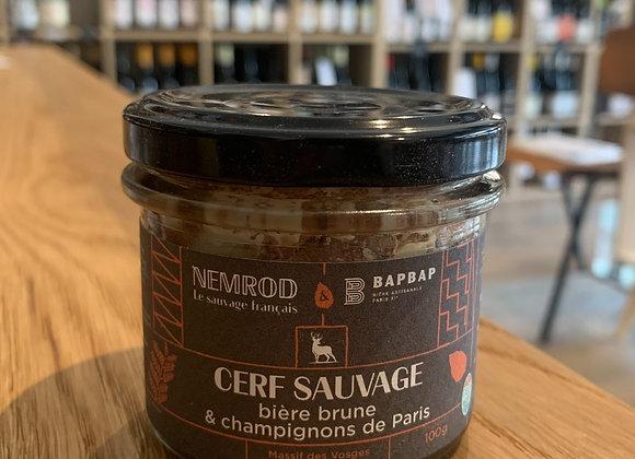 Terrine Nemrod - Cerf sauvage, bière brune et champignons de Paris (100g)