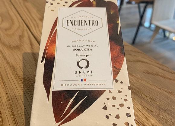 Chocolat 70% au Soba cha - Encuentro (75g)