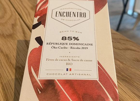Chocolat 85% République Dominicaine - Encuentro (75g)