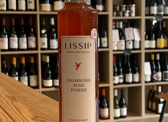 Sirop Lissip - Frambroise, rose, pomme (250ml)