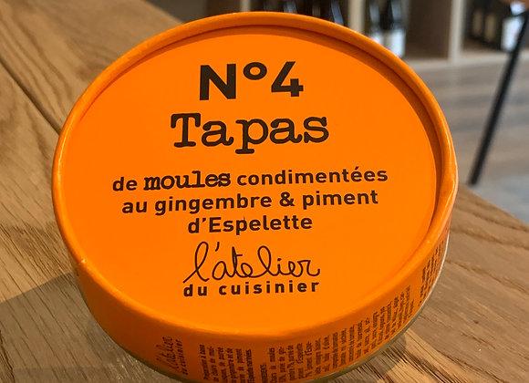 Tapas de moules condimentées au gingembre & piment d'Espelette. (100g)