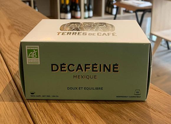 Café décaféiné - Terres de café (10 capsules)