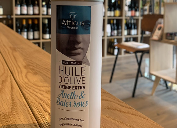 Huile d'olive extra Vierge - Aneth et baies roses (250ml).