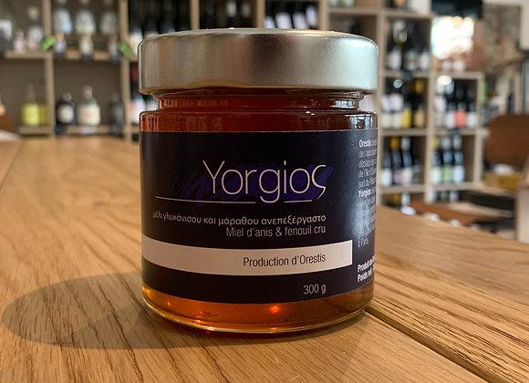 Yorgios  - Miel d'anis et de fenouil cru 300g