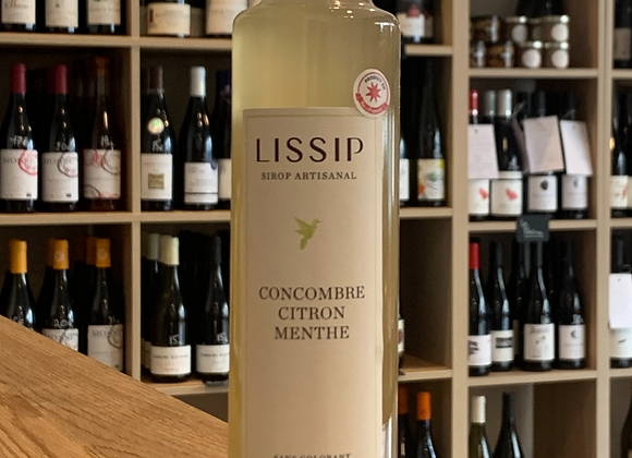Sirop Lissip - Concombre, citron, menthe (250ml).