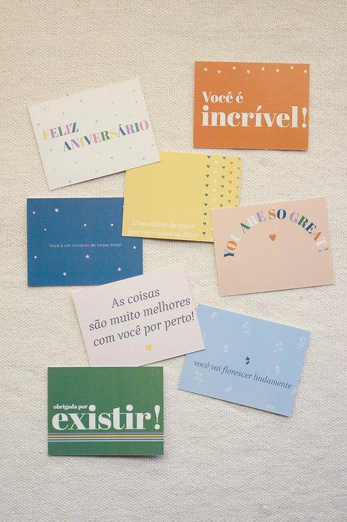 Conjuntinho Cartões Mini | Alegrias