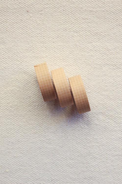 Washi Tape Grid | Nude