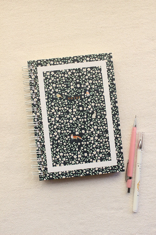 Caderno Pontilhado | Floresta Noite