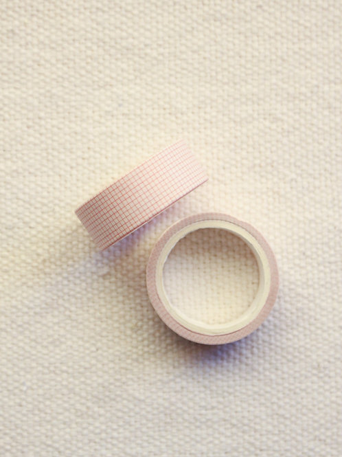 Washi Tape Mini Grid   Rosa