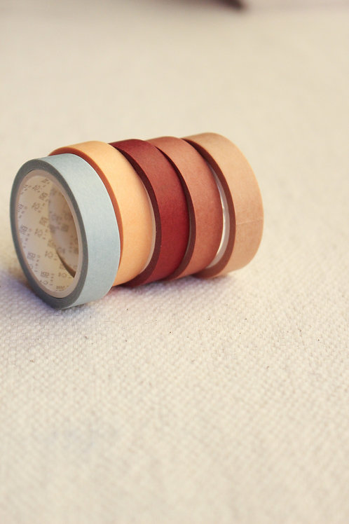 Washi Tapes Cores de Outono