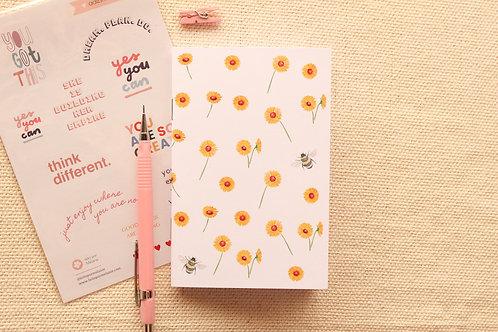 Caderninho A6 | Girassol Branco