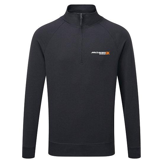 McLaren Owners UK 1/4 Zipped Sweatshirt - Black