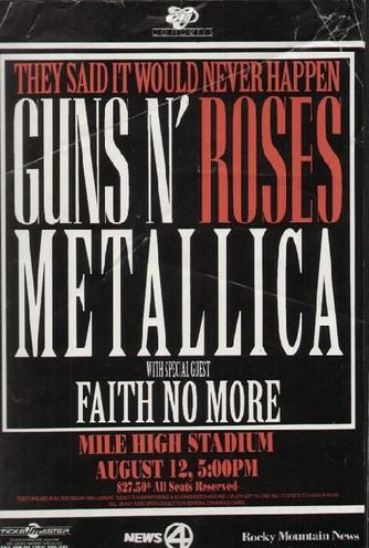 Pirotecnia e dor de garganta – a turnê conjunta do Metallica com o Guns n' Roses (1992)