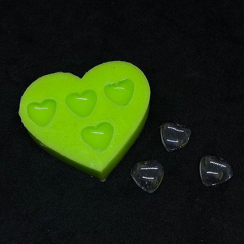 Mini 3D Herz Silikonform
