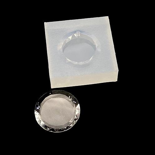 Geschliffenes Medaillon  Silikonform