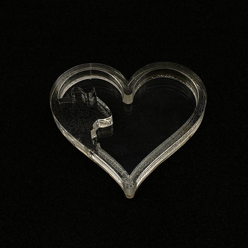 Maus Herz  Shaker Silikonform