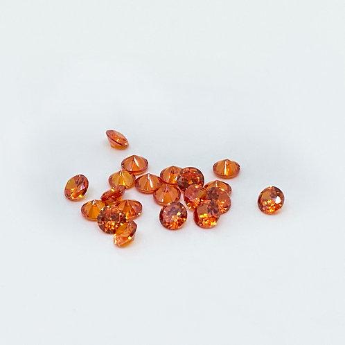Resin Gems Orange 20Stk 3mm