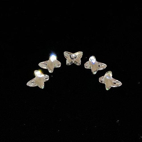 Premium Kristall Perlen Schmetterlinge 5stk