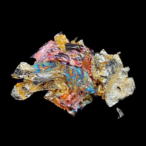 Efco Metall Folie 1g Farbe bunt geflammt