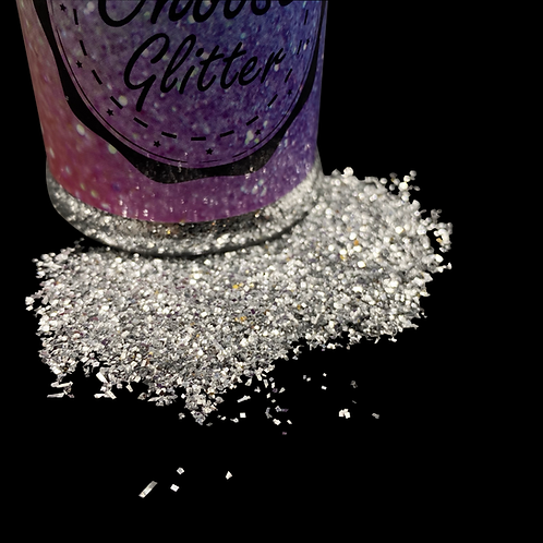 Glitter Silver quadrat 80ml