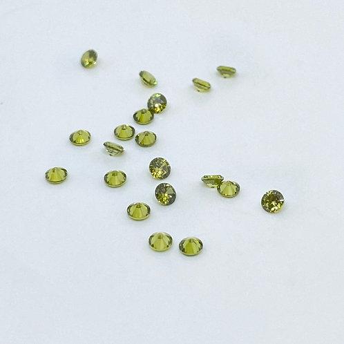 Resin Gems grün 4mm und 6mm 20 Stück