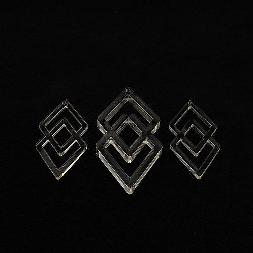 Geometrisches Schmuck set  Silikonform