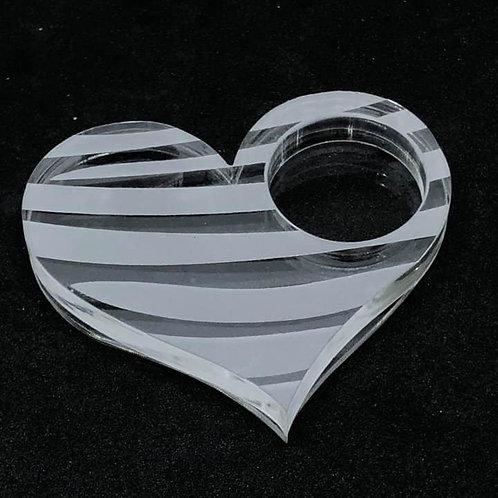 Herz mit Loch Shaker Silikonform