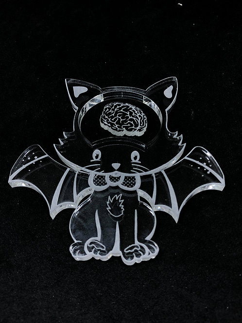 Katze mit Mini Hirn Shaker Silikonform