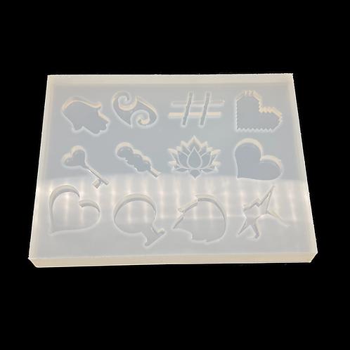 Shaker Inlay  Basic Silikonform