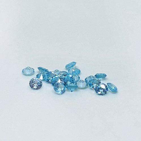 Resin Gems Blau 20Stk 3mm