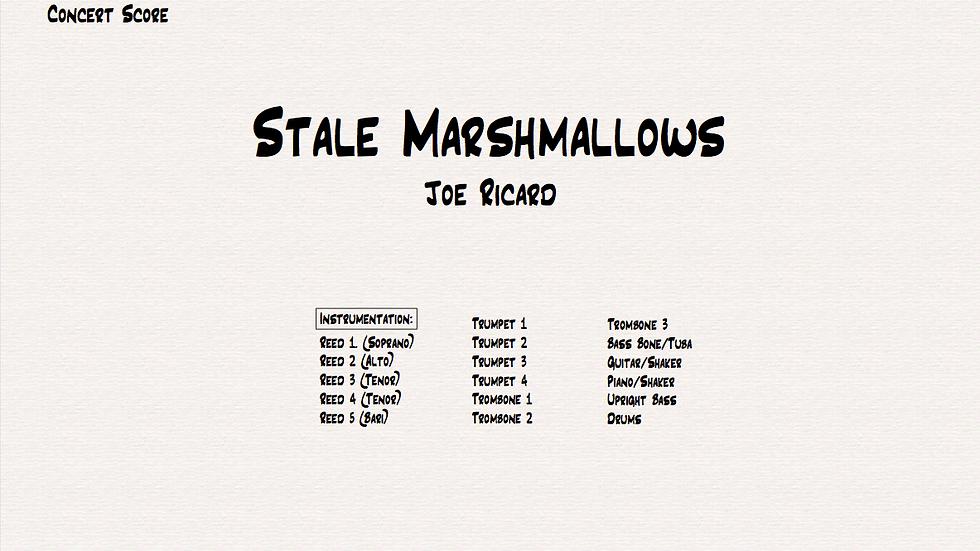 Stale Marshmallows
