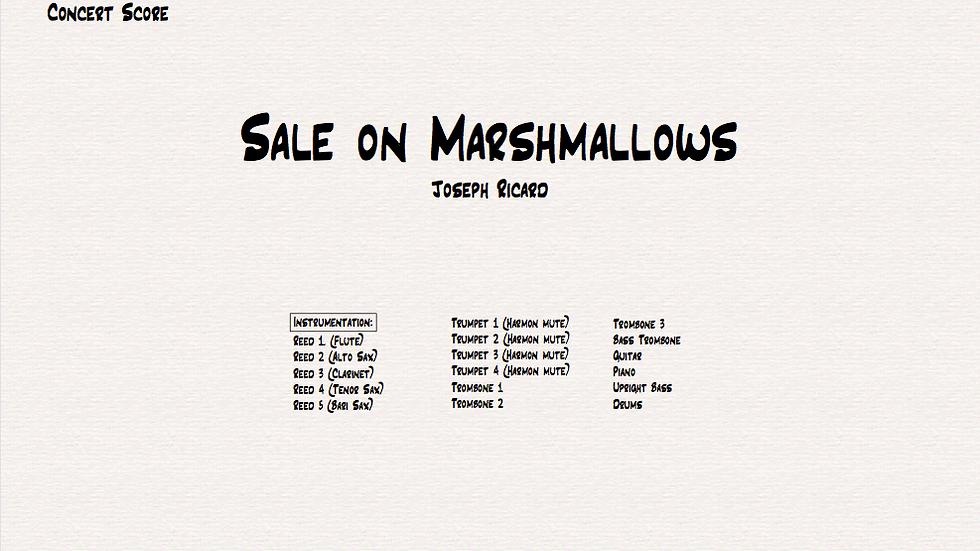 Sale on Marshmallows