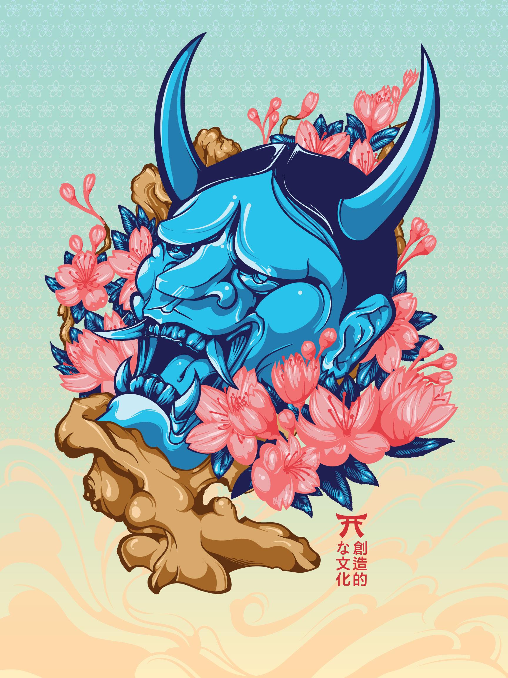 Blue Hannya