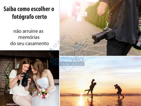 Saiba como escolher o fotógrafo certo - não arruíne as memórias do seu casamento.